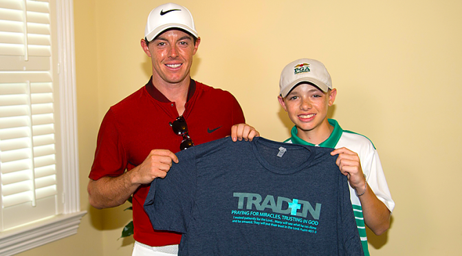 Traden Karch with Rory McIlroy